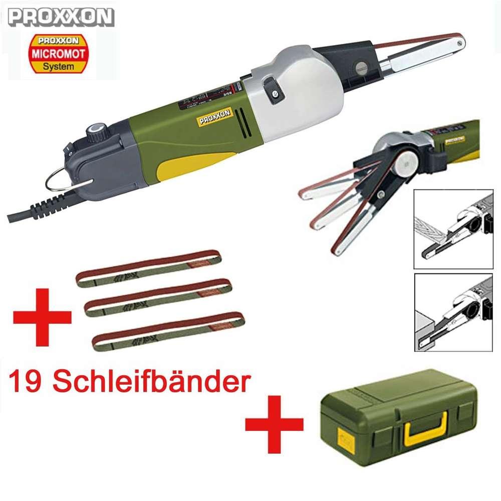 proxxon micromot bandschleifer mini schleifer bs/e + 19